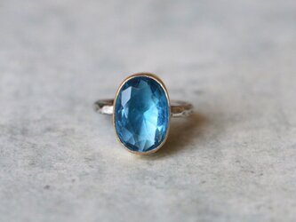 天然石*ブルーフローライト 指輪*7.5号の画像