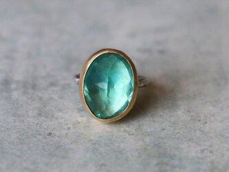 天然石*グリーン・フローライト 指輪*7.5号 の画像