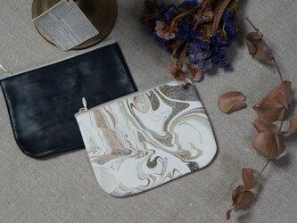 Leather Porch②#京都墨流し/ナチュラルブラック・カウレザーの画像