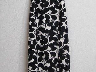 綿麻のジャンパースカート 黒の画像