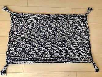 手編みラグの画像