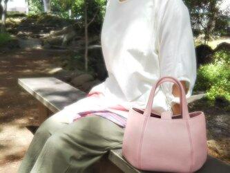 【牛革】丸みのあるフォルムがかわいい♡小さいバッグ(ピンク)*受注製作*の画像