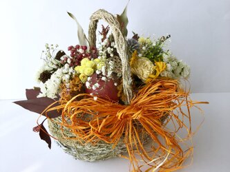 Dry flower natural basketの画像