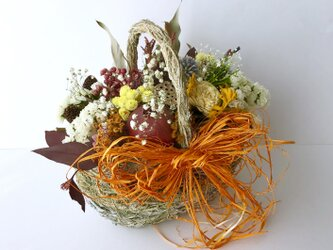 Dry flower natural basket「受注制作」の画像