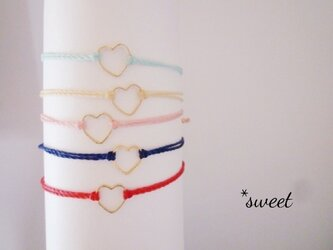 New ♡【LOVE】ハートコードブレス//イニシャルの画像