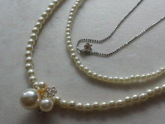 ホワイトパール ネックレスの画像