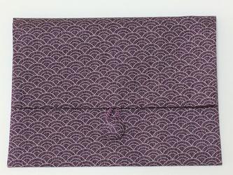 御朱印帳ケース~青海波(紫)の画像