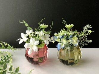 「2個セット」Flower glass arrangeの画像