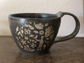 マグカップ―kakiotoshi black 鳥飼いの画像
