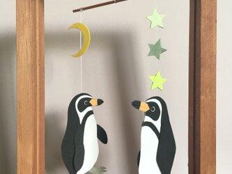 小さなフレーム付きモビール*フンボルトペンギンの画像