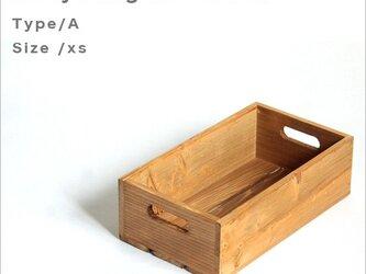 *リサイクルウッドボックスtype/aサイズxs 持ち手穴付き 木箱 収納の画像