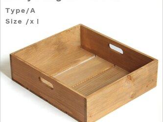 *リサイクルウッドボックスtype/aサイズXL 持ち手穴付き 木箱 収納の画像