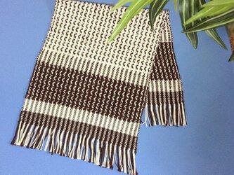 手織り おしゃれなテーブルセンターの画像
