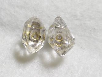 (1点もの)ハーキマーダイヤモンドのスタッドピアス・LL(チタンポスト)の画像
