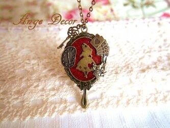 ◆◇アリスシリーズ・鏡の国のアリスのネックレス◇◆の画像