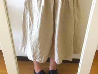 ロング巻きスカート(リネン)の画像