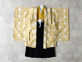 ◆羽織袴セット/麻の葉タマゴ/5歳の画像