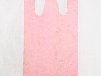 牛革 ピンク コンビニエンスバッグ Sサイズ トートバッグの画像