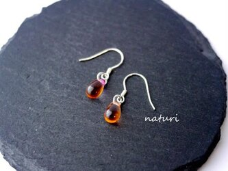 【rosee】glass drop pierce orn/pnk (2pcs)の画像