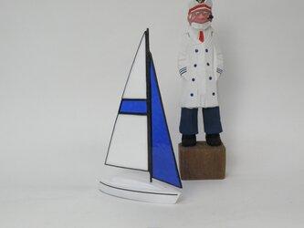 帆船模型 ヨット ステンドグラスセイル Bの画像