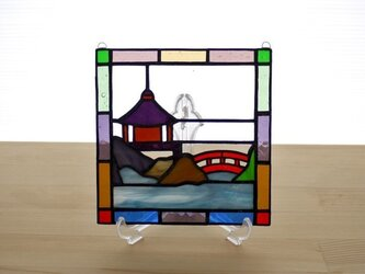 ステンドグラス ミニパネル 灯籠 15cmの画像