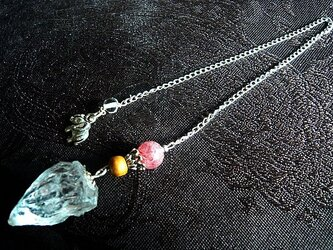 ヒマラヤ水晶原石&ストロベリークオーツ・ペンジュラムの画像