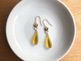 drop earring/pierce【yellow】の画像