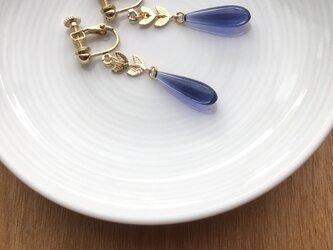 drop earring/pierce【blue】の画像