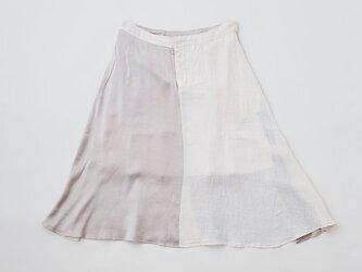 enrica linensilk skirt pinkgrey / natural dye / size40/42の画像