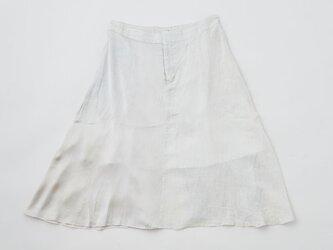 enrica linensilk skirt icegrey / natural dye / size40/42の画像