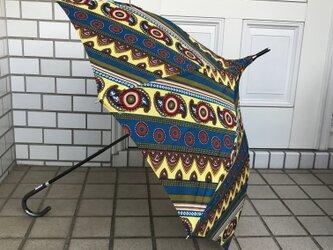 アフリカンファブリック日傘の画像