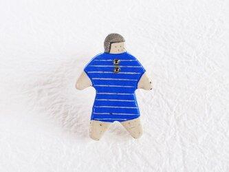 オヨヨちゃんブローチ(マリンボーダー)の画像