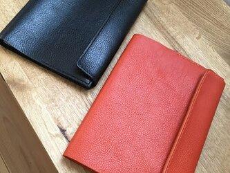 イタリアンレザーA5サイズの手帳カバー【オレンジ】の画像
