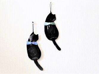 壁掛け 黒ネコ 一輪挿しの画像