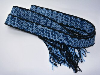 カード織りのベルト 流水模様の画像