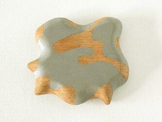 木彫り手鏡 さ・い・ぼ・う(グレー)growの画像
