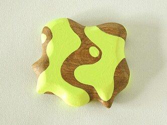 木彫り手鏡 さ・い・ぼ・う(レモンライム)growの画像