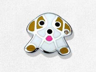 ビーグル ピンブローチ《茶》~シルバー925&ダイアモンドの画像