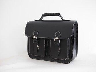 本革手作りのクラシックレザーバックパックかばんショルダーバッグ小さなの画像