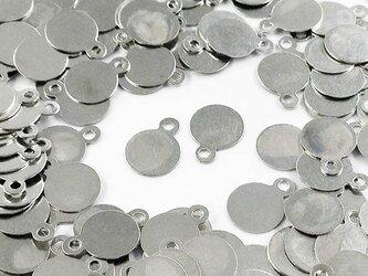 送料無料 メタル パーツ プレート 丸 6mm シルバー 200枚 カン付き ピアス イヤリング パーツ (AP0505)の画像