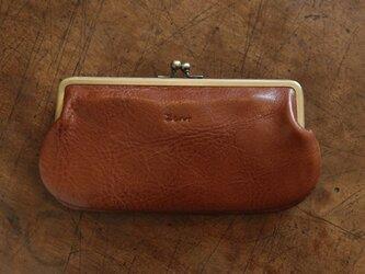 がま口長財布(キャメル)の画像