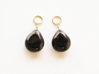 訳あり*14kgf モリオン黒水晶 マロンカット ペンダントトップ チャーム 天然石の画像