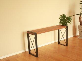 腰掛け荷物置きベンチ | 玄関ベンチ | スマートベンチ【オーク無垢材】の画像