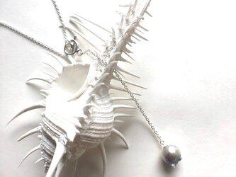 大粒バロックのアコヤ真珠ラリアットネックレス(SV925、アコヤ真珠)の画像