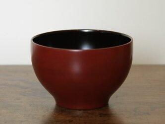 蝋石小椀(朱漆)の画像