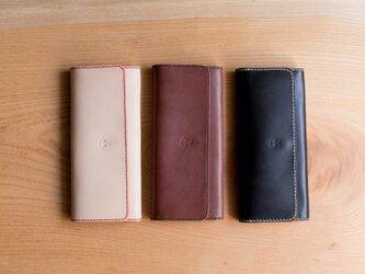 スマートでシンプルな本革長財布【刻印可】の画像
