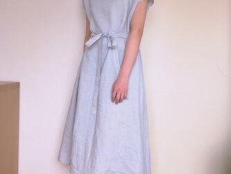 【F様専用ページ】リネンのワンピース  シルバーグレーの画像