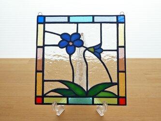 ステンドグラス ミニパネル すみれB 15cmの画像