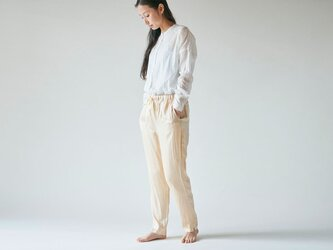 【送料無料】enrica silk pants gold / natural dye / size 36 & 38の画像