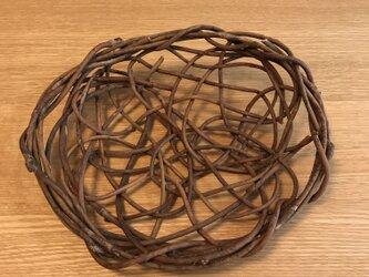 パン皿(ぱごぱごの蔓 乱れ編み)の画像